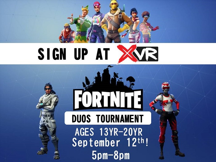 Fortnite Duos Tournament at Xtreme VR