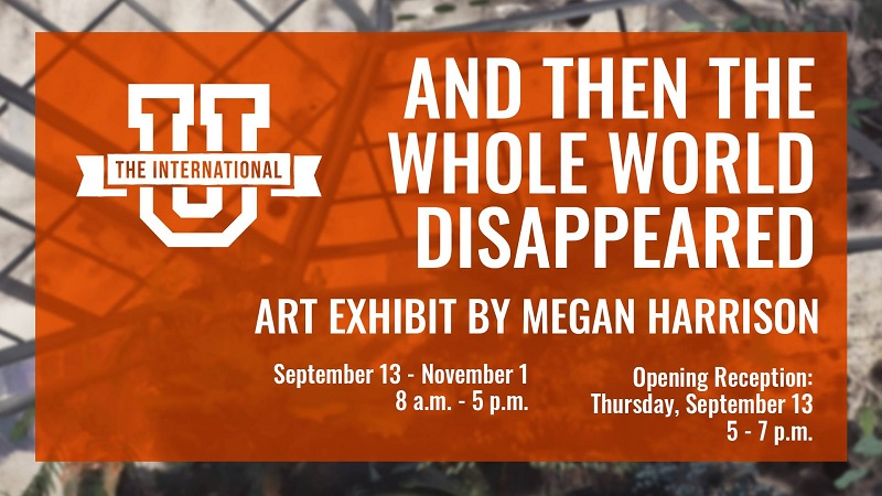AND THE WORLD DISAPPEARED: Exhibit by Megan Harrison