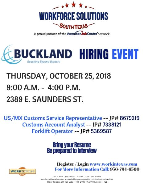 BuckLand Hiring Event