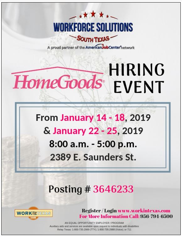 Workforce Solutions Hiring Event for HomeGoods
